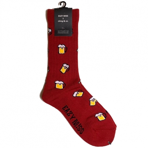 """Beer -wine-"" Socks (limited edition by EAZY MISS)"