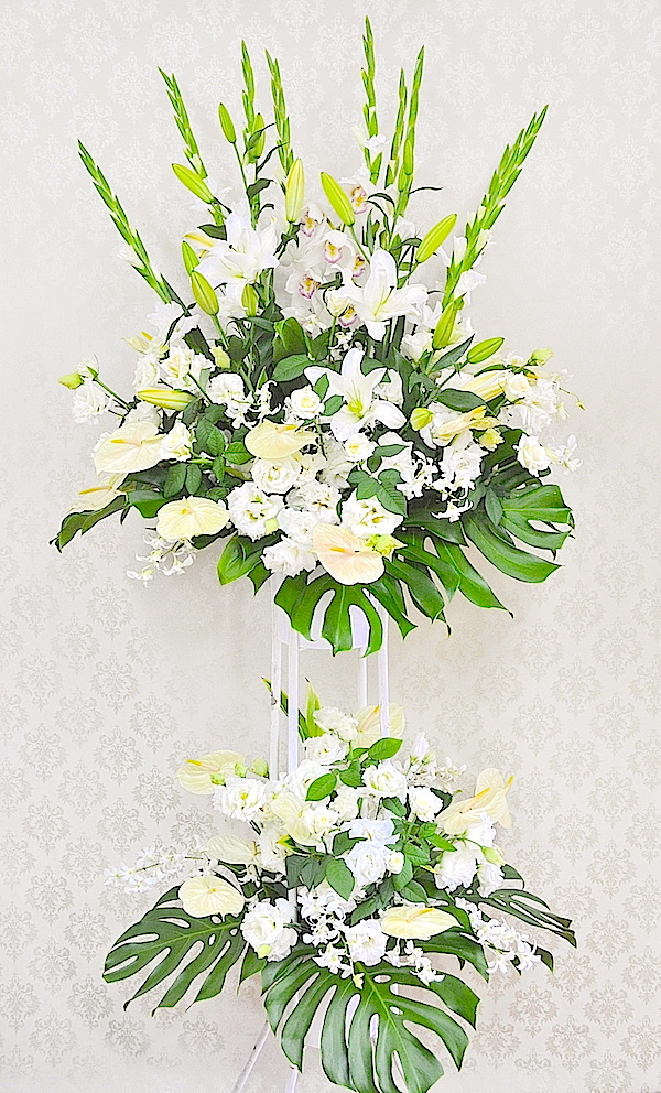 開店お祝い花・スタンド2段