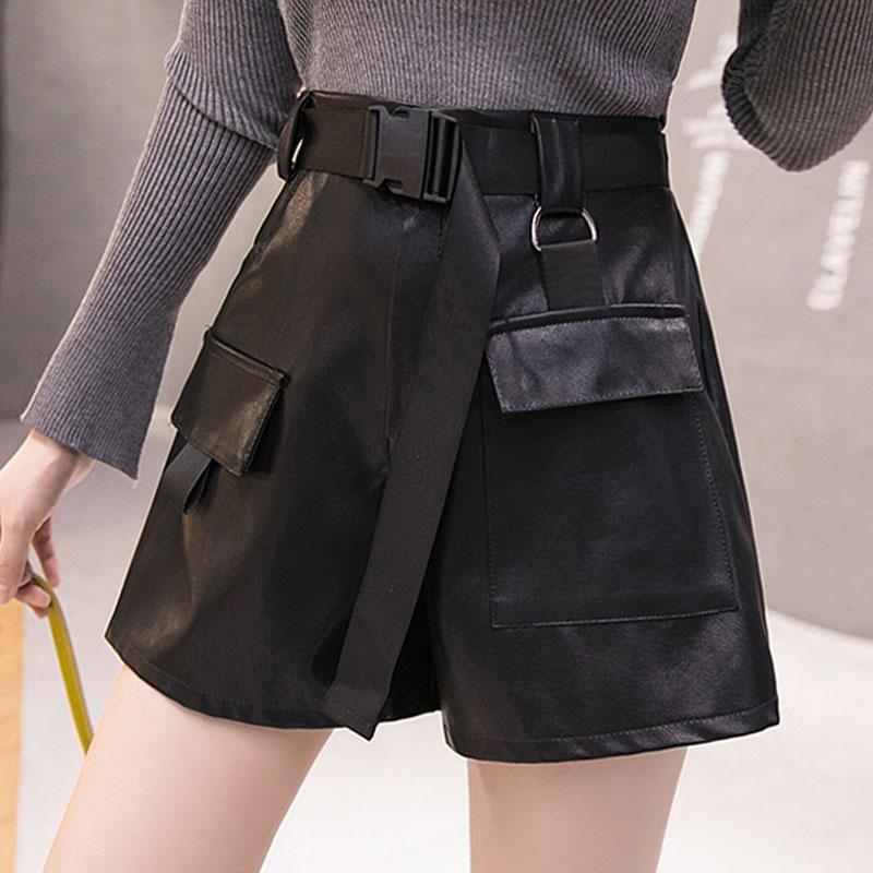【bottoms】 ハイウエストファッション切り替えショートパンツ26990204
