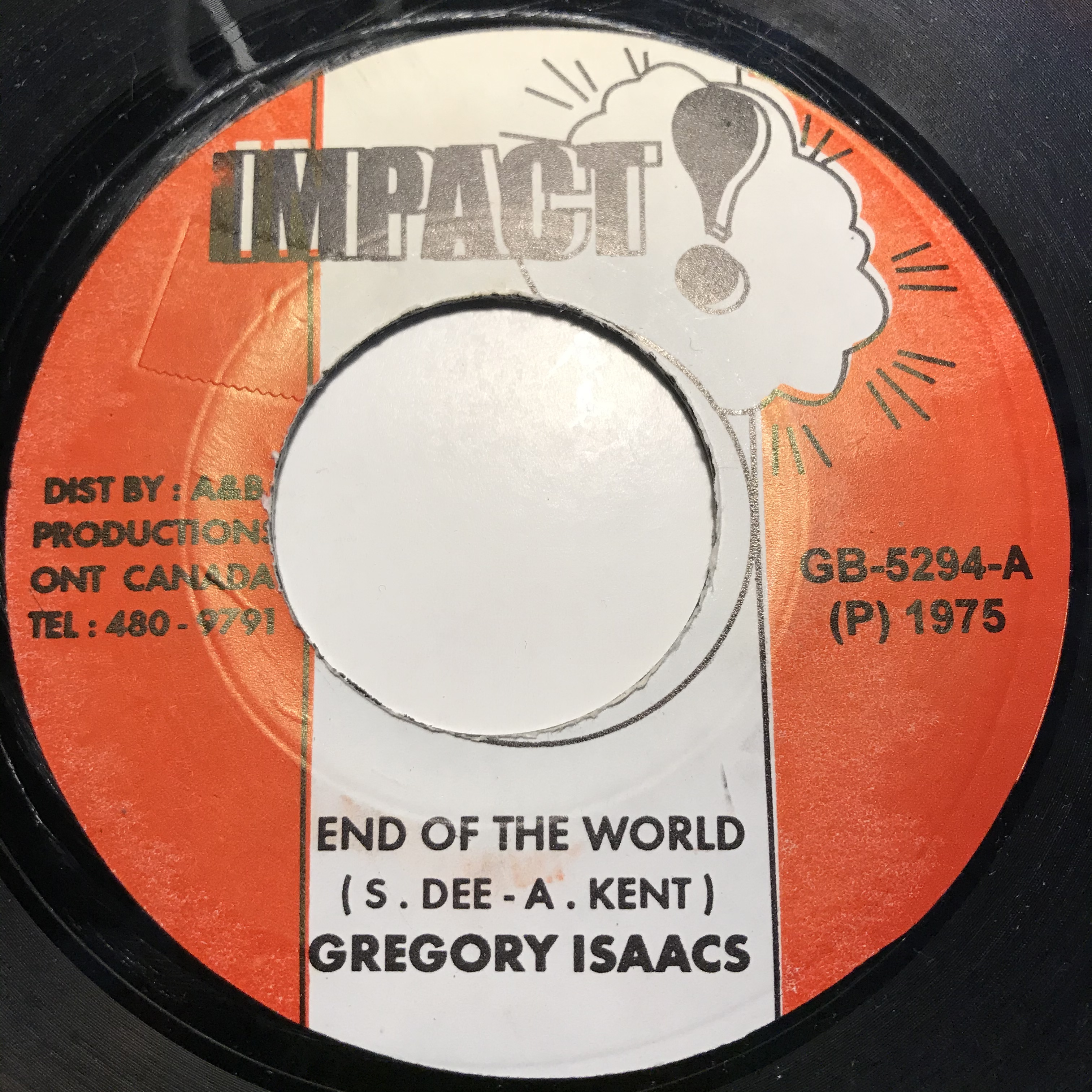 Gregory Isaacs - End Of The World【7-10824】