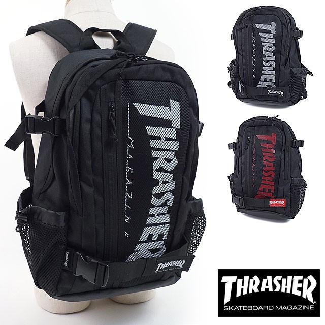 2018年 春夏新作 THRASHER (スラッシャー) 多機能バックパック リュックサック バッグ メンズ・レディース ブラック THRSG7901N
