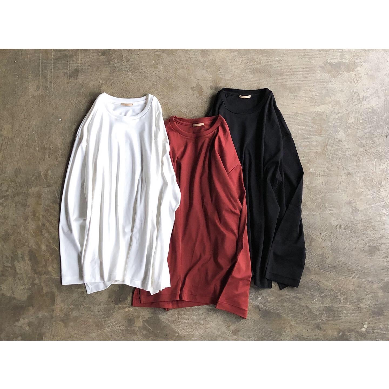 LAMOND (ラモンド) Suvin Cotton Loose Fit Long sleeve Tee