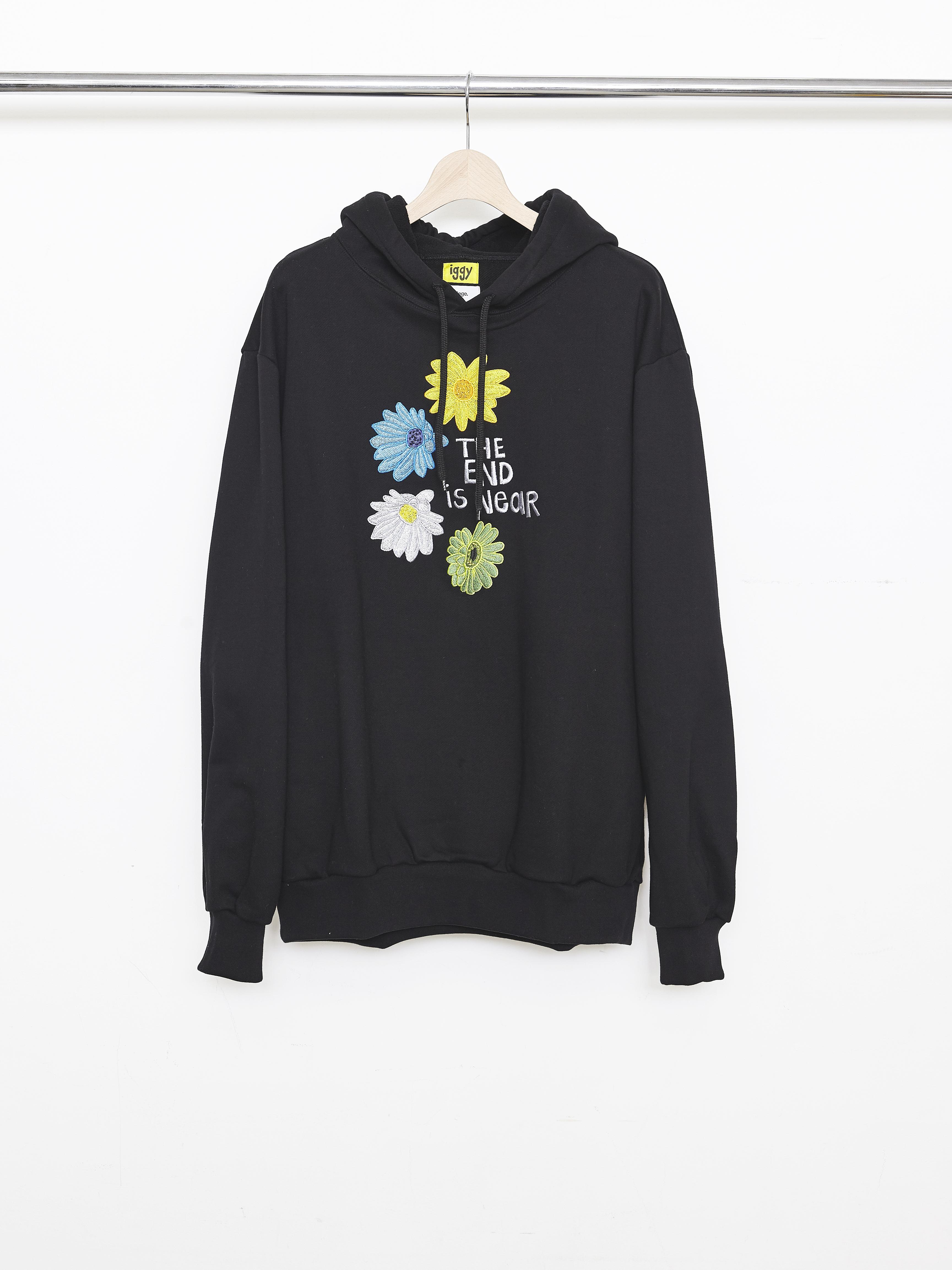 Allege×iggy Flower Hoodie - Black