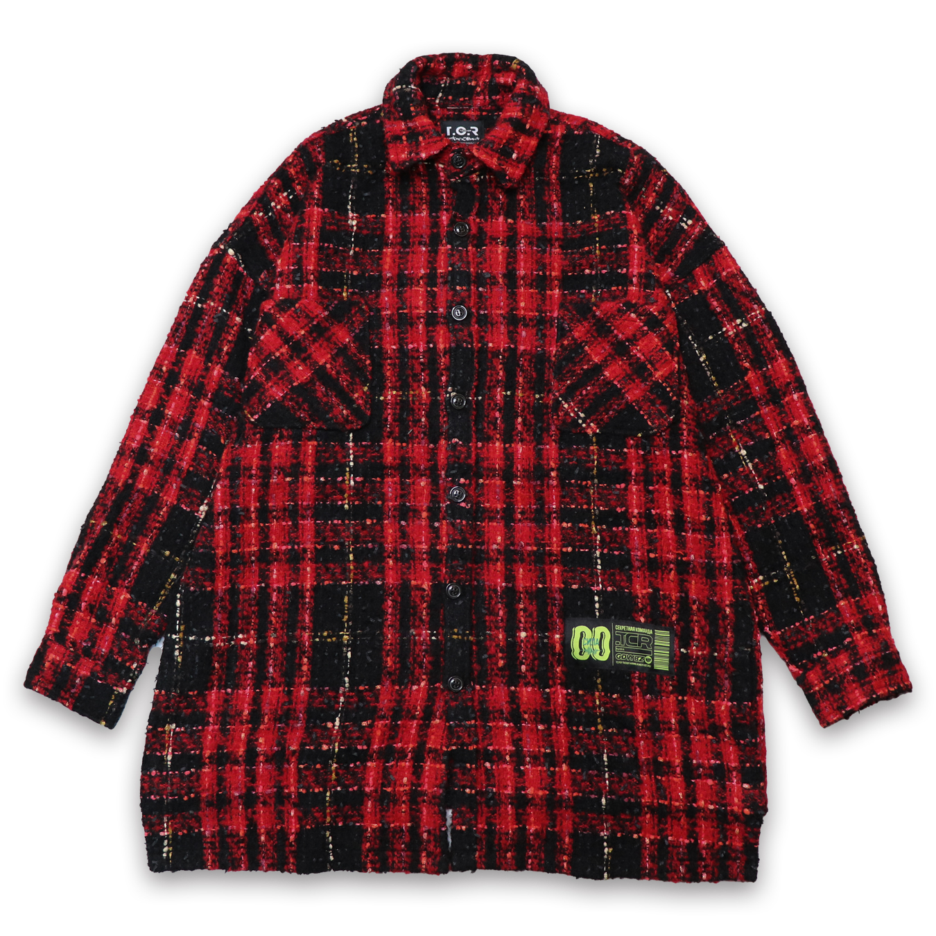 T.C.R FLANNAL CHECK SHIRT - RED
