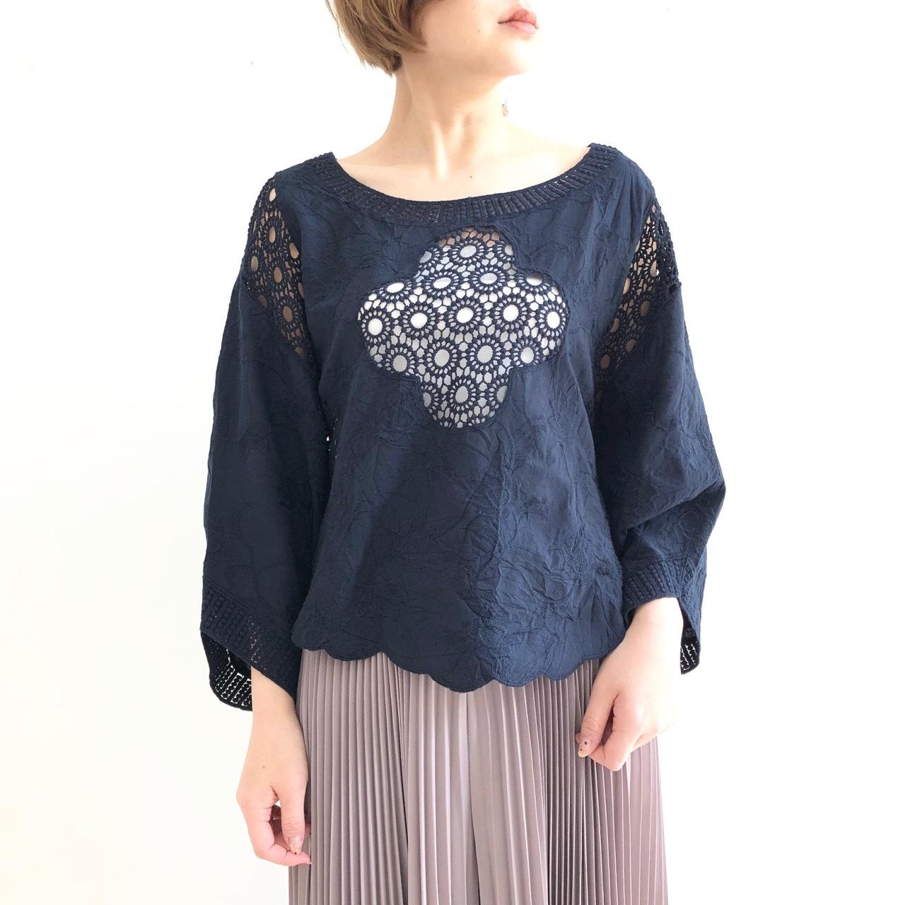 【 Valance Select 】刺繍レースブラウス