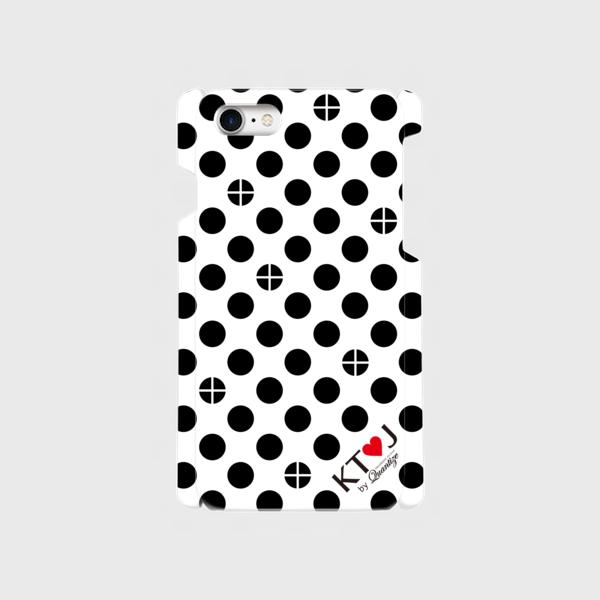 丸十ドット柄スマートフォンケース(iPhone 7/8)