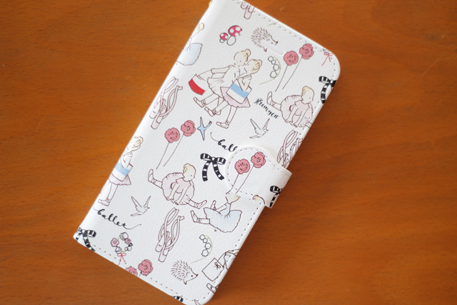 バレリーナ柄手帳型スマホケース iPhone7サイズ