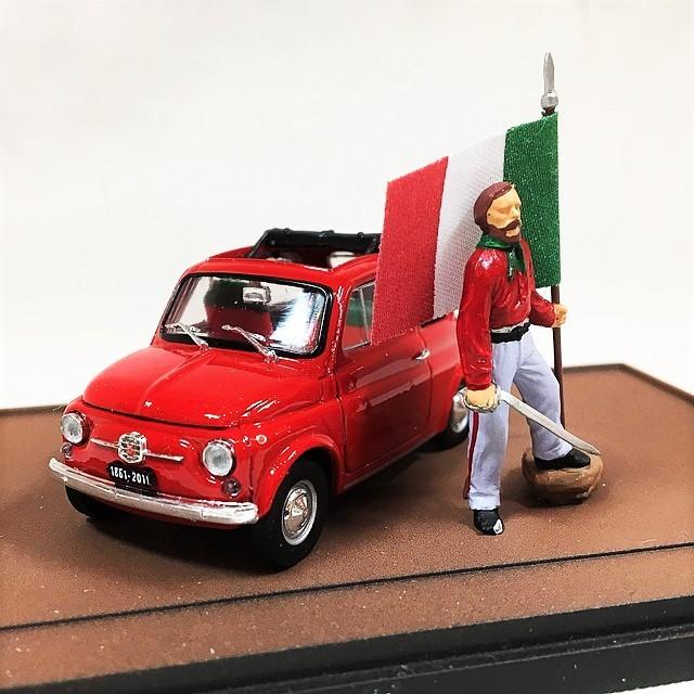 FIAT 500 GIUSEPPE GARIBALDI LO SBARCO DELLE 1000 500 ROSSE A MARSALA 11 MAGGIO 1960 - 150 1/43 【brumm】【1セットのみ】【税込価格】