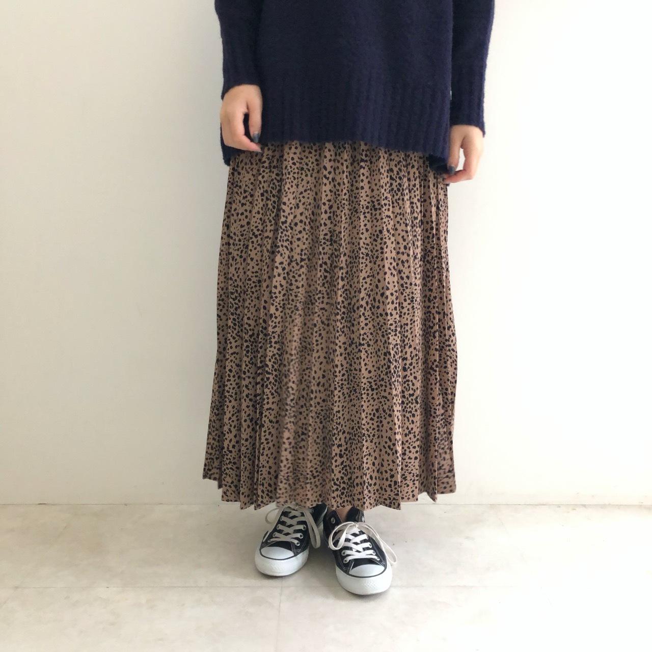 【 CYNICAL 】- 952-96060 - レオパードプリーツスカート