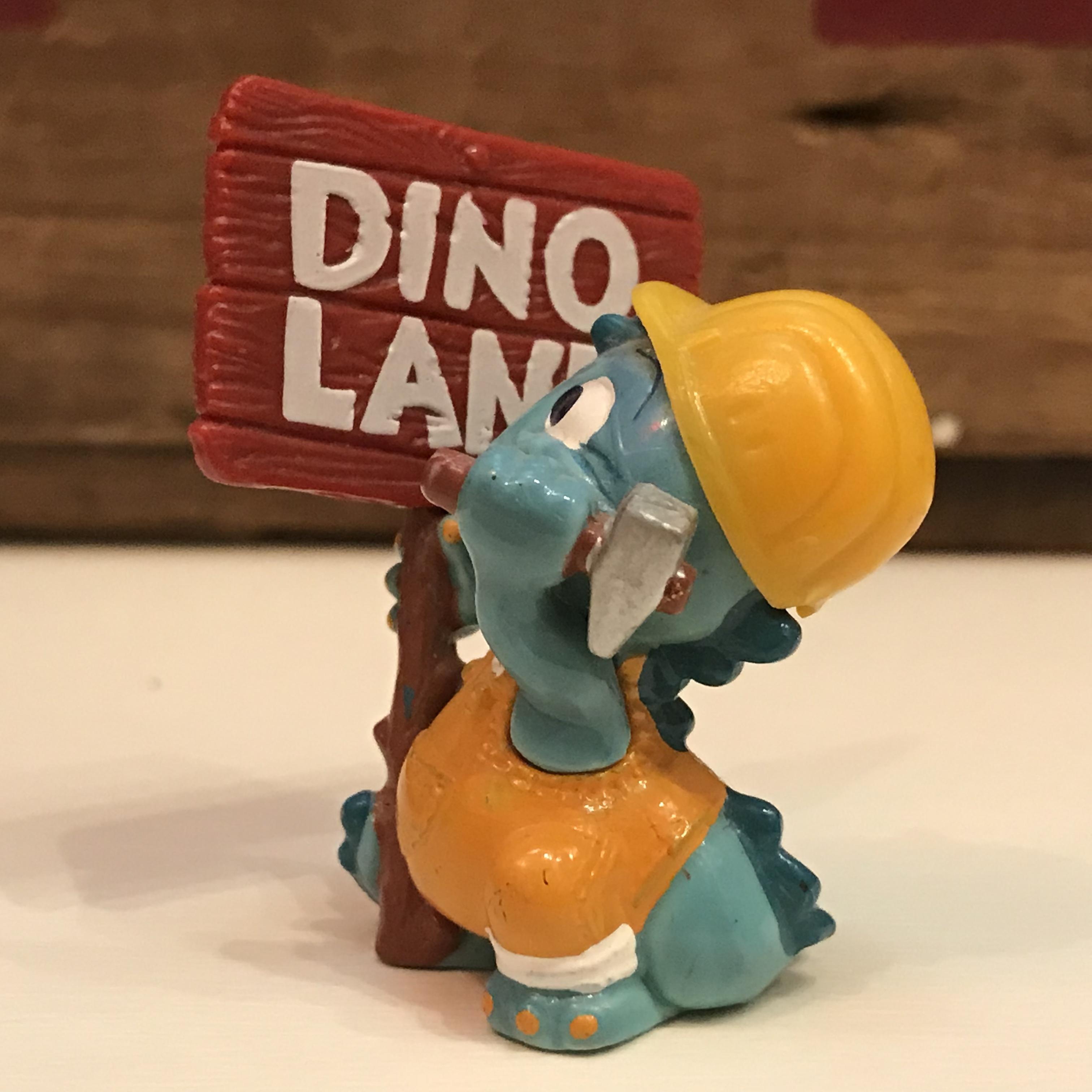 キンダーサプライズ DINO LAND 看板 作業員 建設現場シリーズ 恐竜