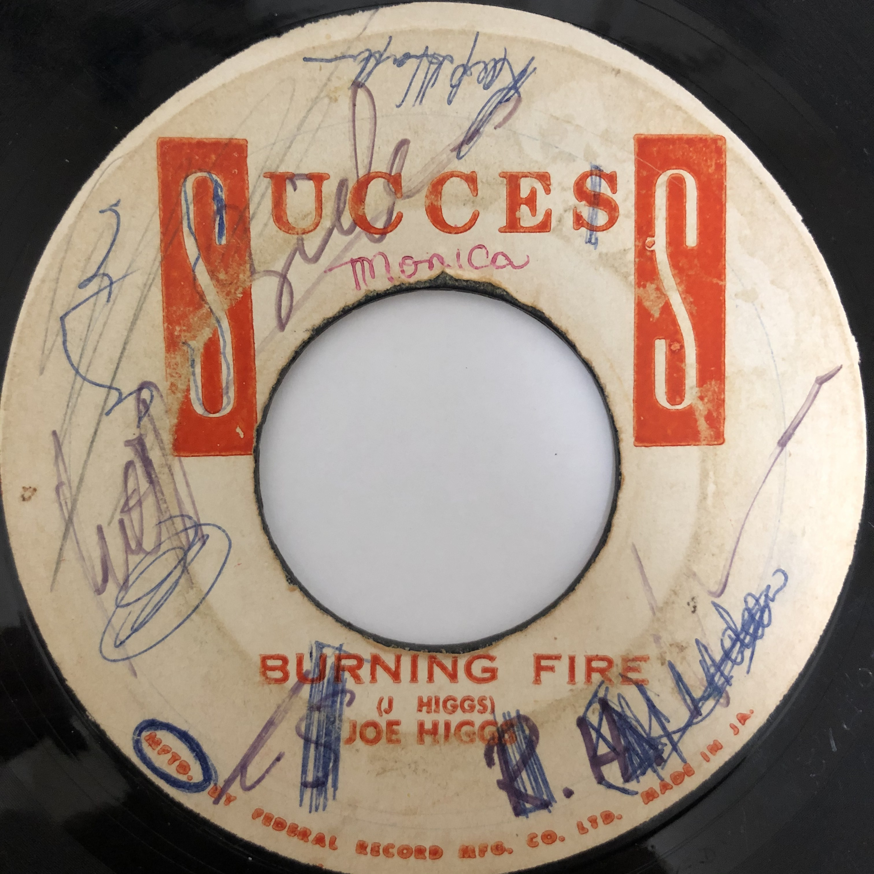 Joe Higgs - Burning Fire【7-20453】