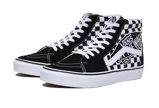 VANS UA SK8-HI (VANS PATCH) BLACK/TRUE WHITE バンズ