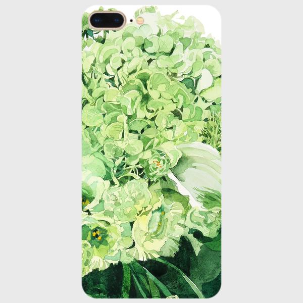 Green bouquet  強化ガラススマホケース