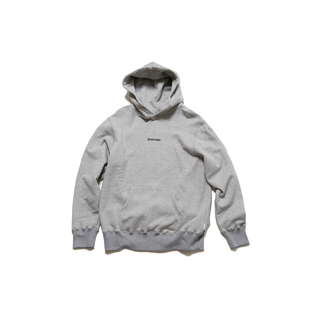 "SEASONING  HOODIE ""Menu"" - GRAY"