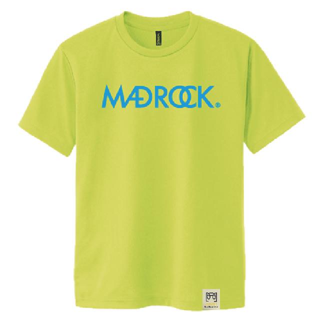 マッドロックロゴ Tシャツ/ドライタイプ/蛍光イエロー