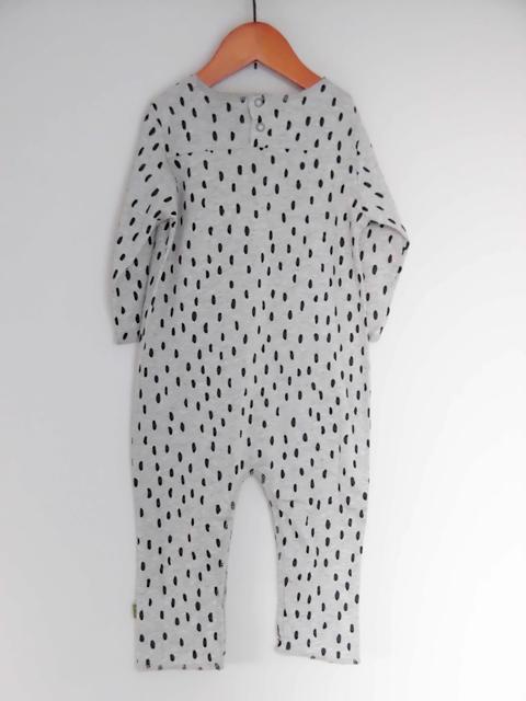 オーガニックコットン 長袖ロンパース(12-18か月) ベビー服 RARO romper  グレードット【nui】
