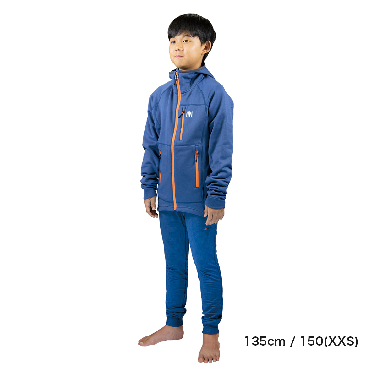 Kids 130 / UN3100 Mid weight fleece hoody / Navy