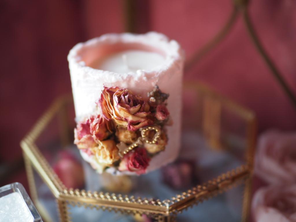 vintage rose aromacandle  2
