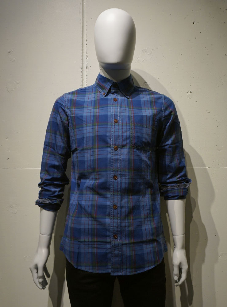 Deus ex Machina Albie Overdye Check インディゴ