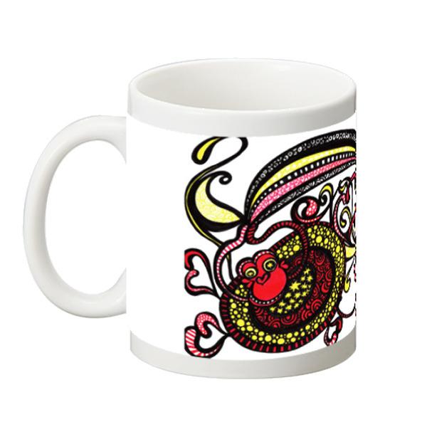 ◆マグカップ 高さ95mm×直径82mm◆ 【happy monkey ハッピーモンキー】