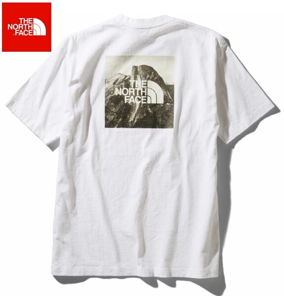 ノースフェイス 半袖 Tシャツ メンズ THE NORTH FACE ショートスリーブピクチャードスクエアロゴティー NT32036 ホワイト
