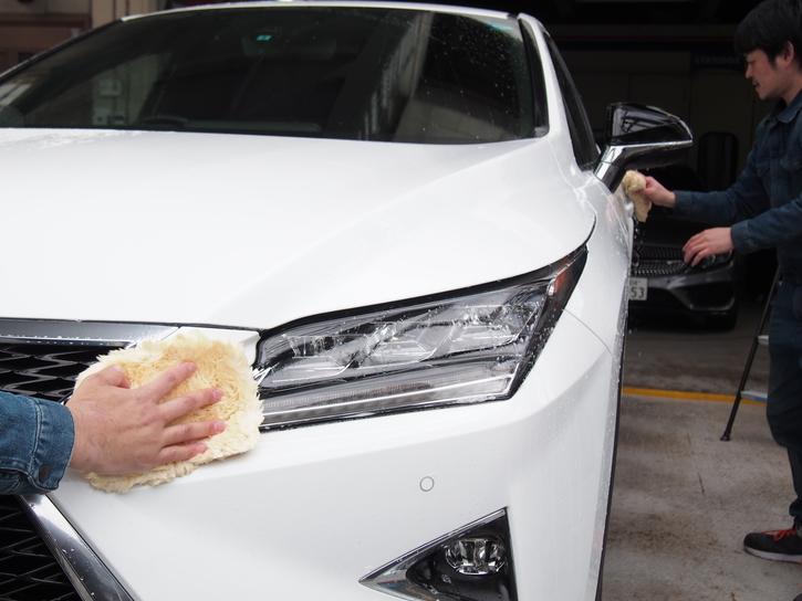 【普通車】手洗いムートン洗車(ガラス、ホイール込)