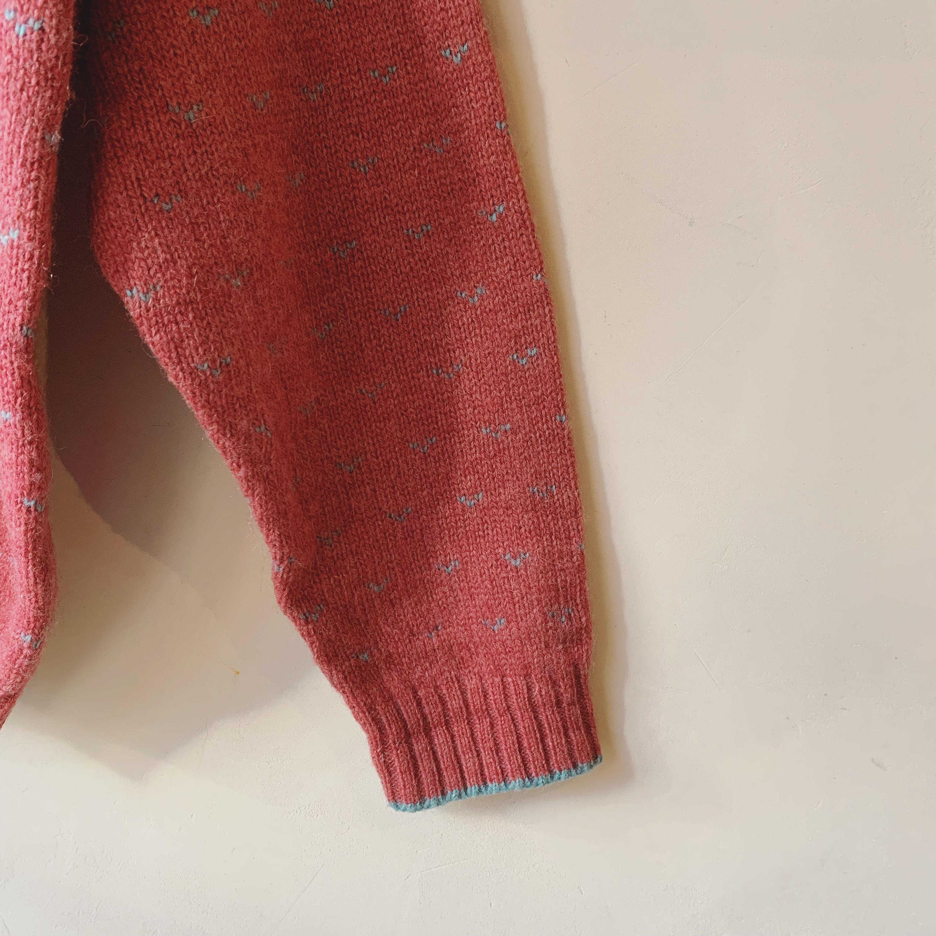 vintage smokypink knit cardigan