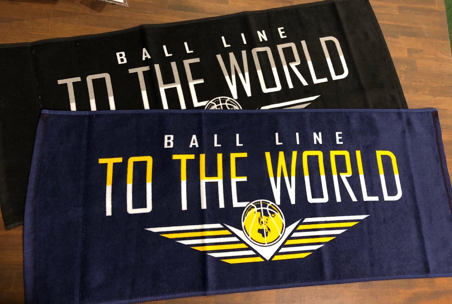 """""""世界へ""""スポーツタオル TWL389【BALL LINE】ボールライン"""