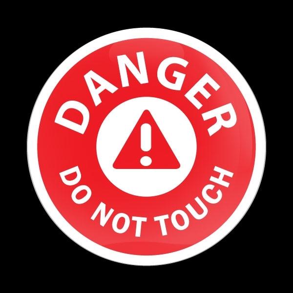 ゴーバッジ(ドーム)(CD0777 - DANGER DO NOT TOUCH) - 画像1