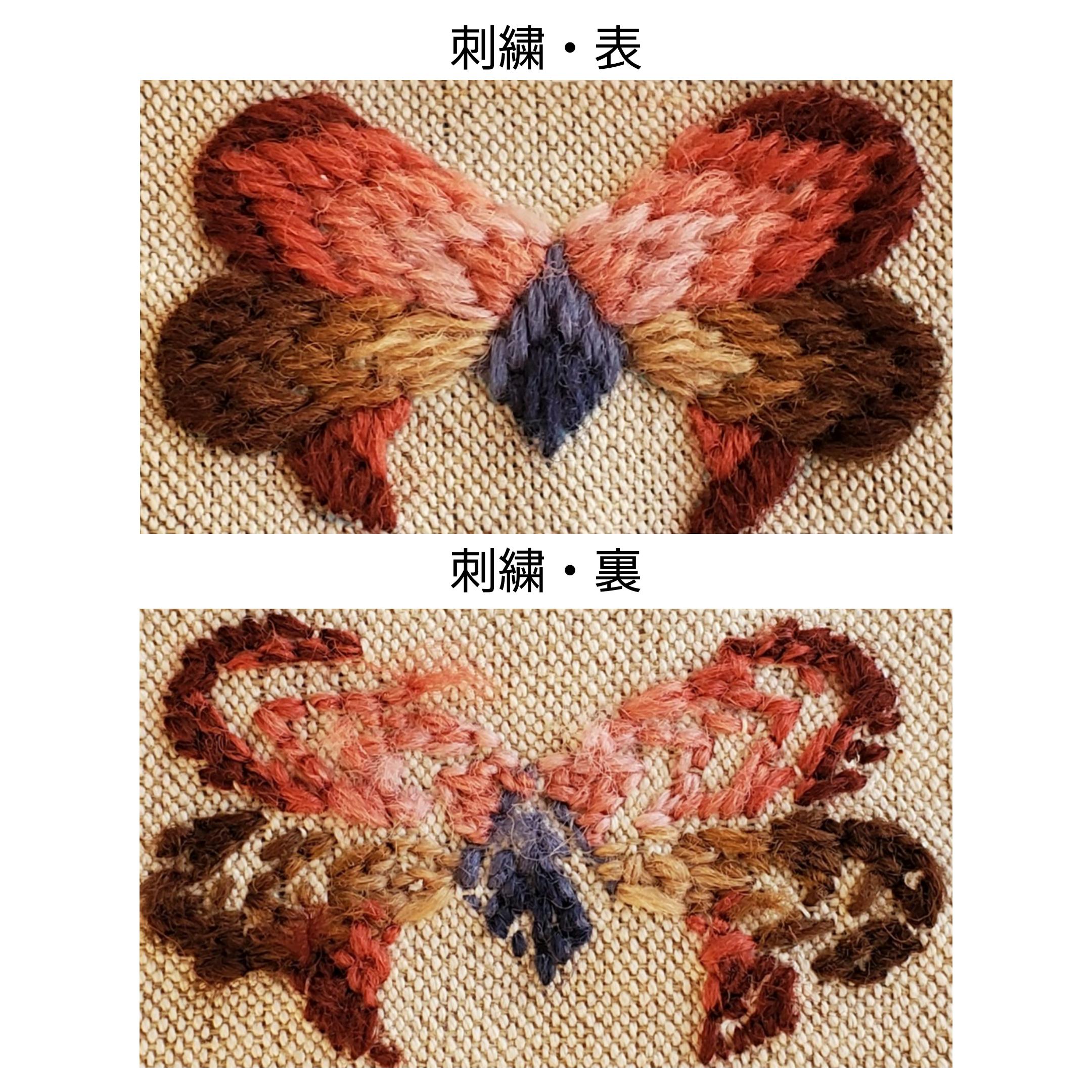 ハンガリー毛糸刺繍初めてさん用/テトラポーチキット