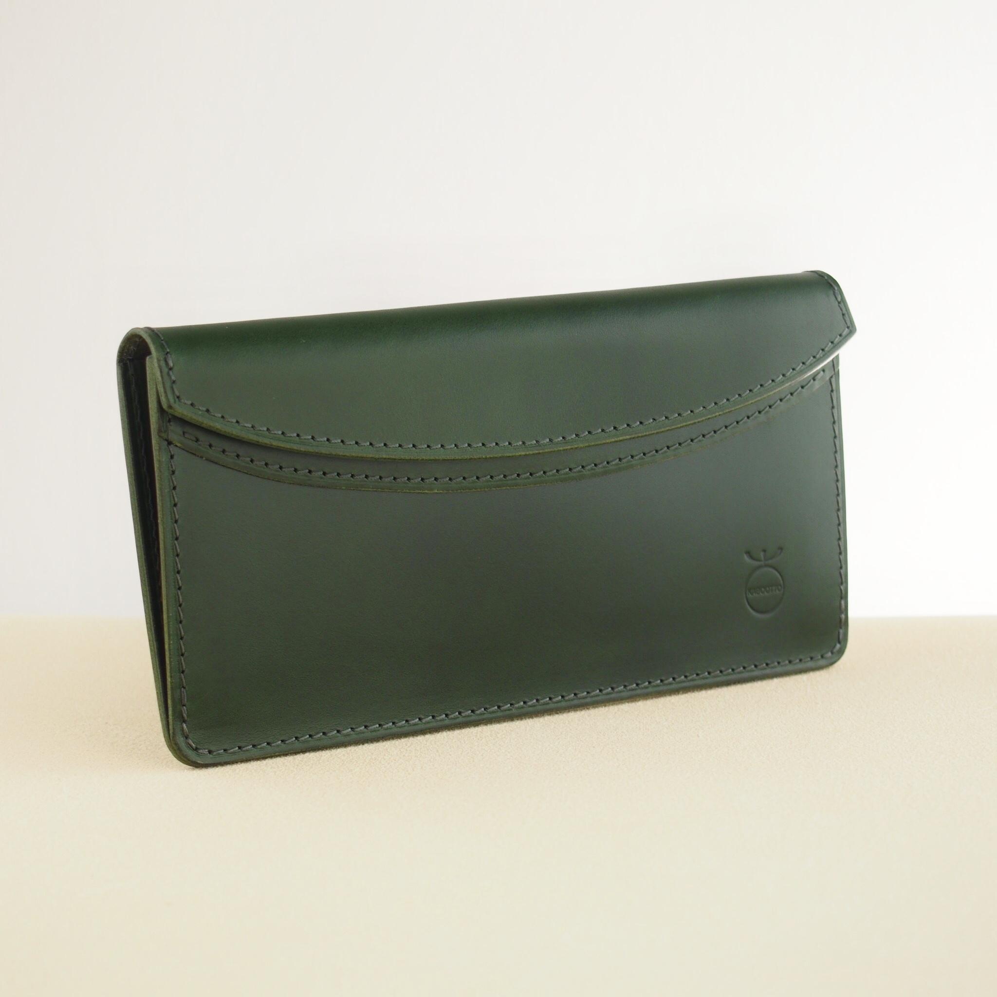 薄い軽い使いやすい! スリムな財布#グリーン