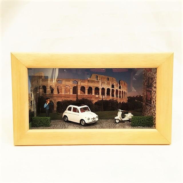 Diorama realizzato con modello Fiat 500 Vitess 4707 1/43【RE-PLAY】【1個のみ】【税込価格】