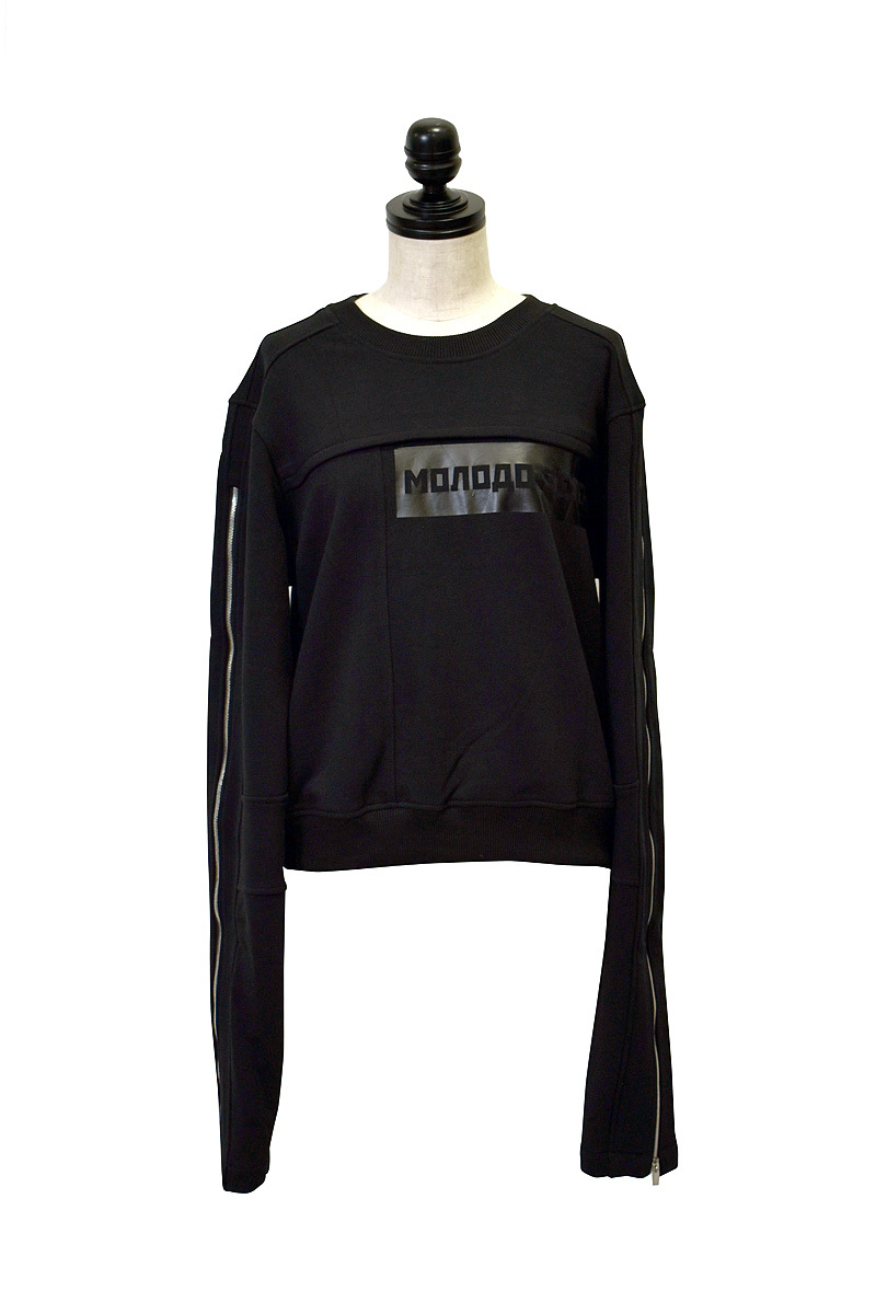 Svarka / Sweatshirt zip sleeve / BLACK