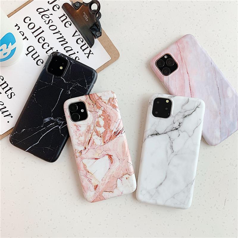 【お取り寄せ商品、送料無料】4カラー エレガント 大理石調 ソフト iPhoneケース iPhone11