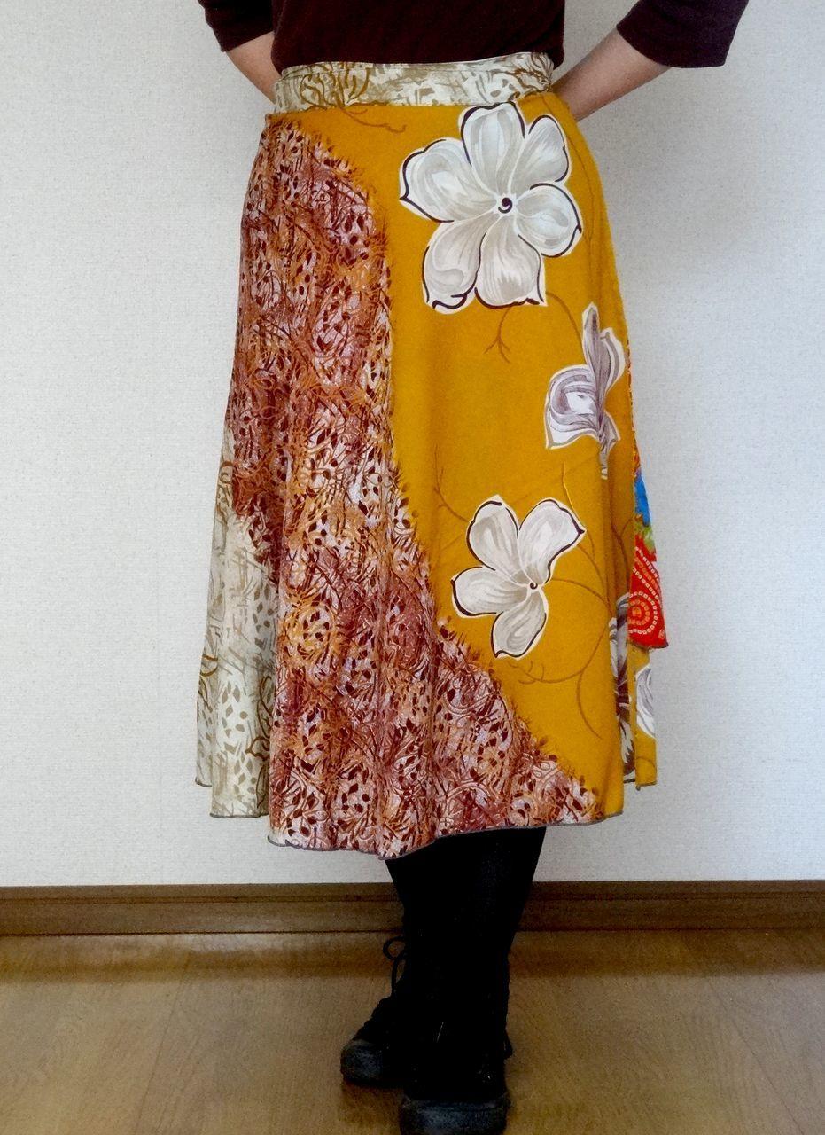 dss-008 【新価格】シルクサリー巻きスカートショート