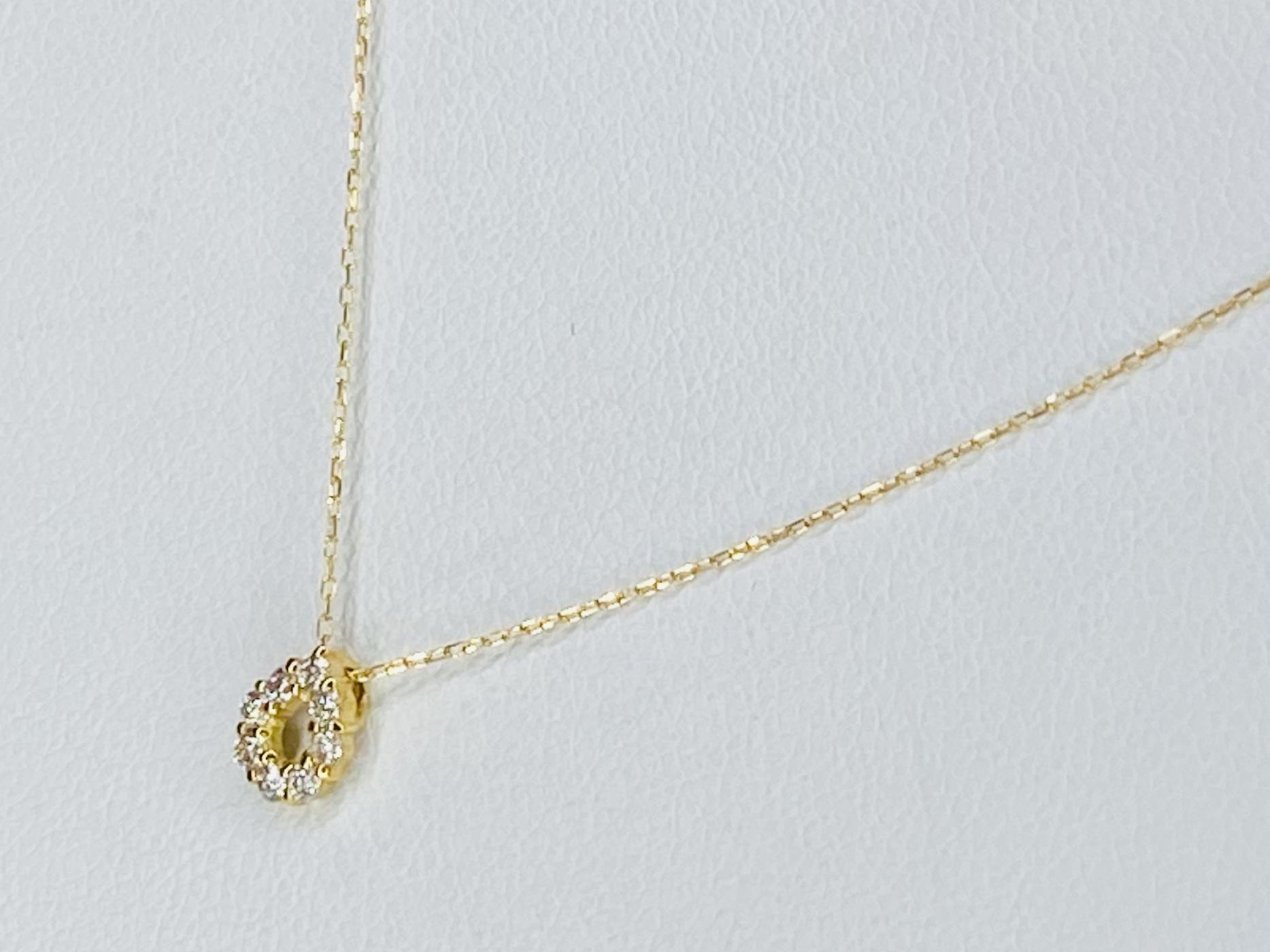 K18 0.1ct ダイヤモンドネックレス ○