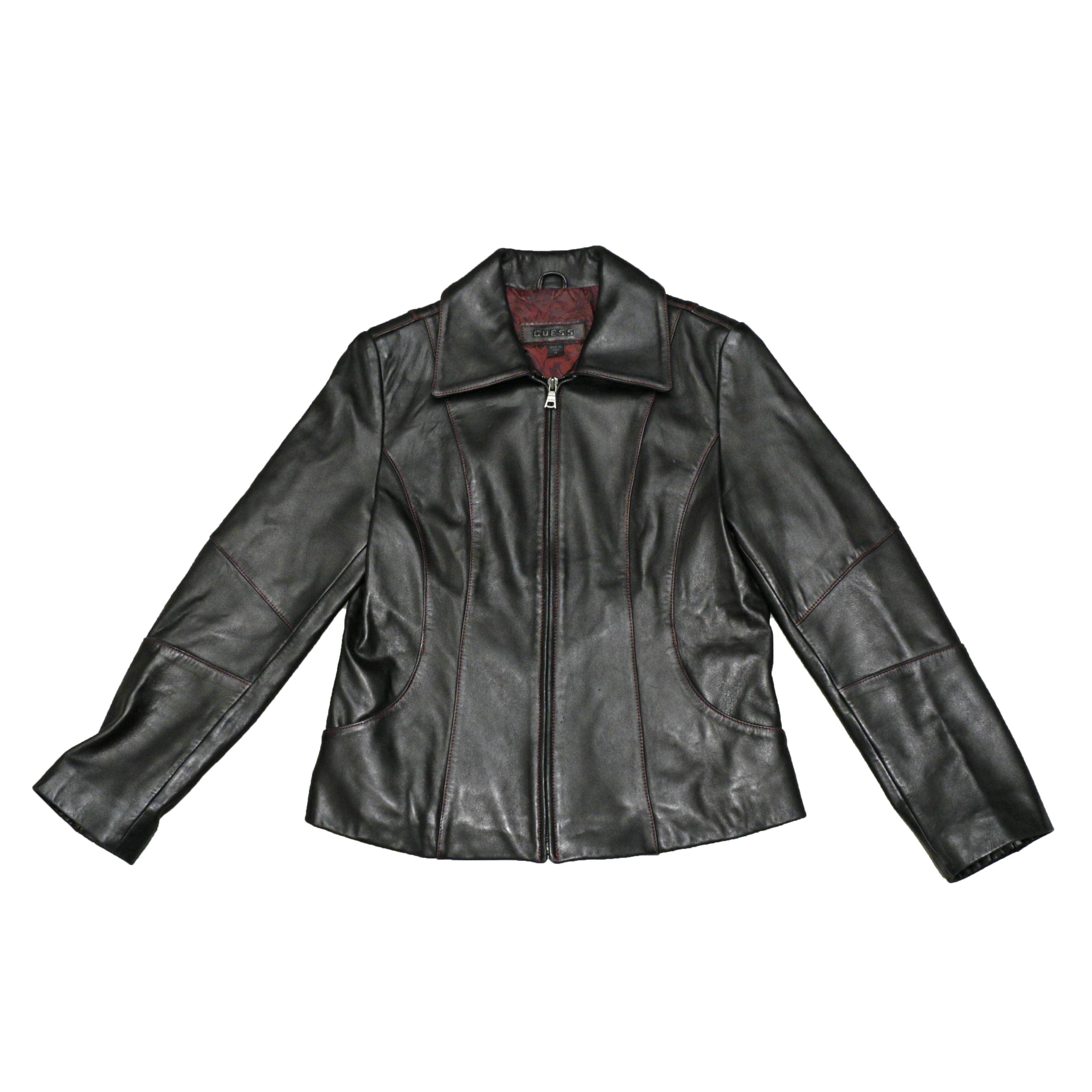 GUESS ShortLengthLeatherJacket