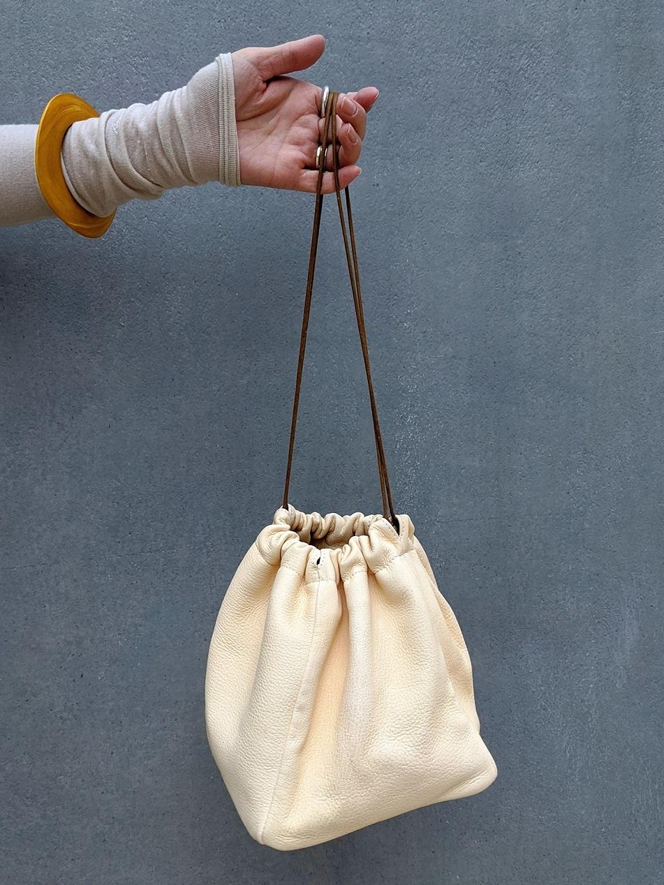 Deer Skin Bag - CREAM