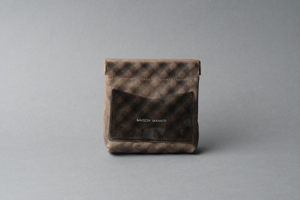 ワンタッチ・コインケース ■DUNE カーキ・オーカー■ - 画像1
