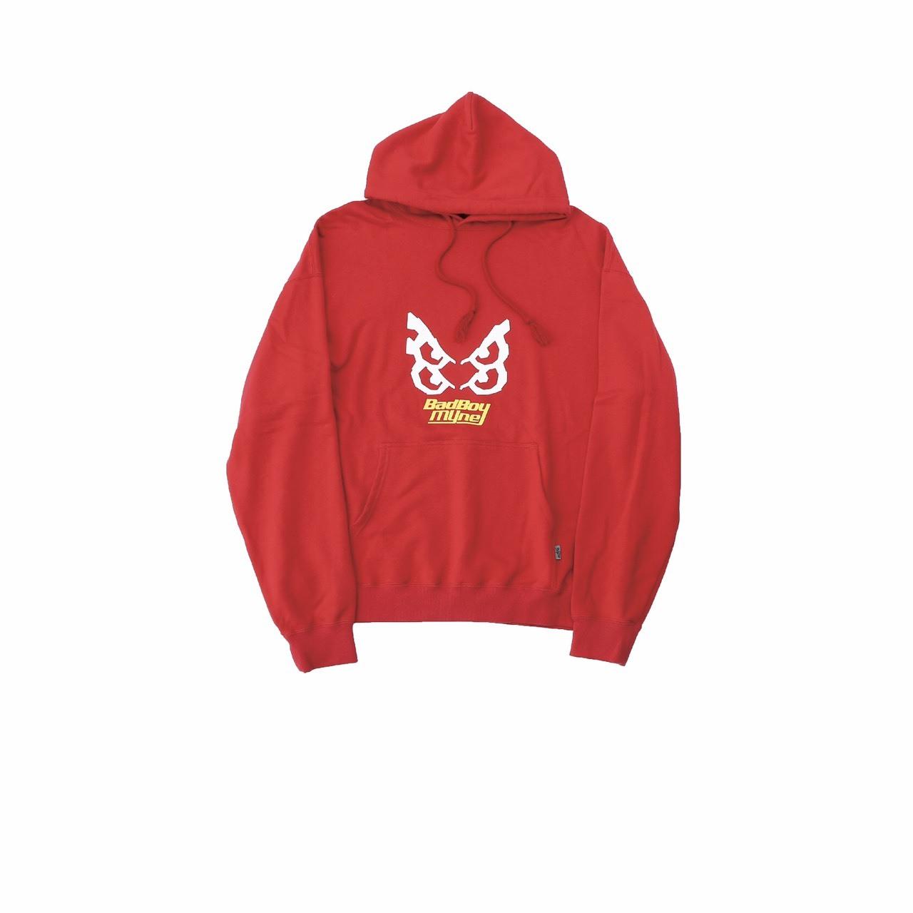 【10%OFF】MYne × BADBOY hoodie / RED - 画像1