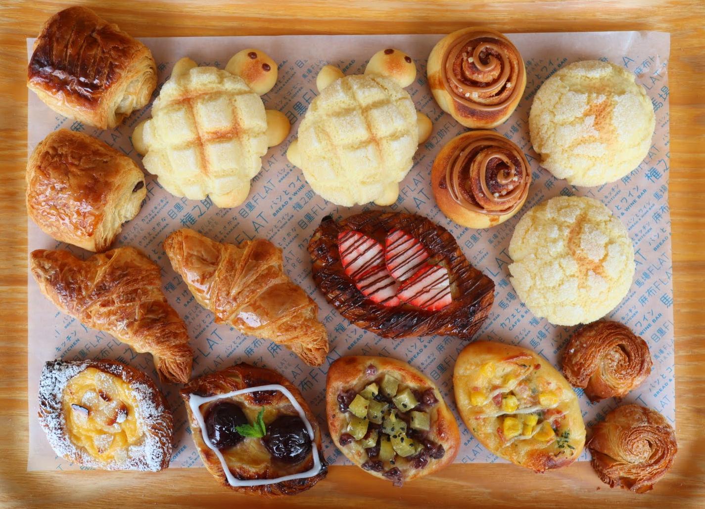 ◆ おうちで馬場FLAT発表会対象商品 ◆【手作りパンセット】「デニッシュ&菓子パン&メロン皮」冷凍パン生地セット