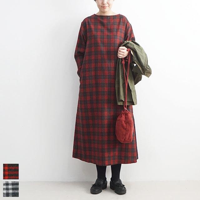 ichi イチ 起毛チェックワンピース 【返品交換不可】 (品番190924)