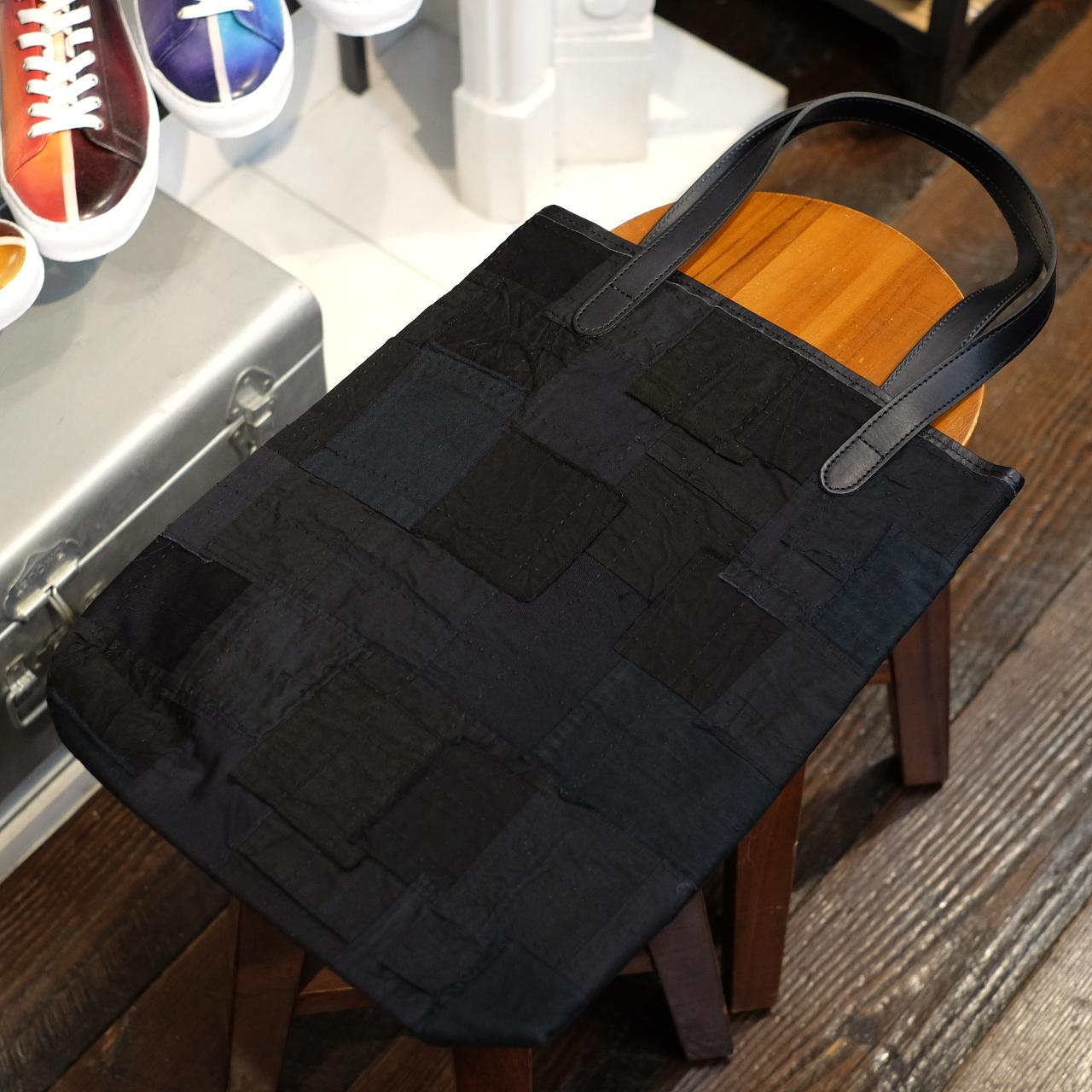 KUON(クオン) アップサイクルブラック シンプルトートバッグ