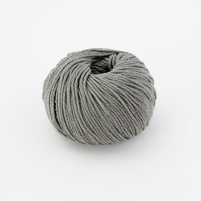 【編み物キット】No.13の糸を使ったコットンリブ編みニット帽子