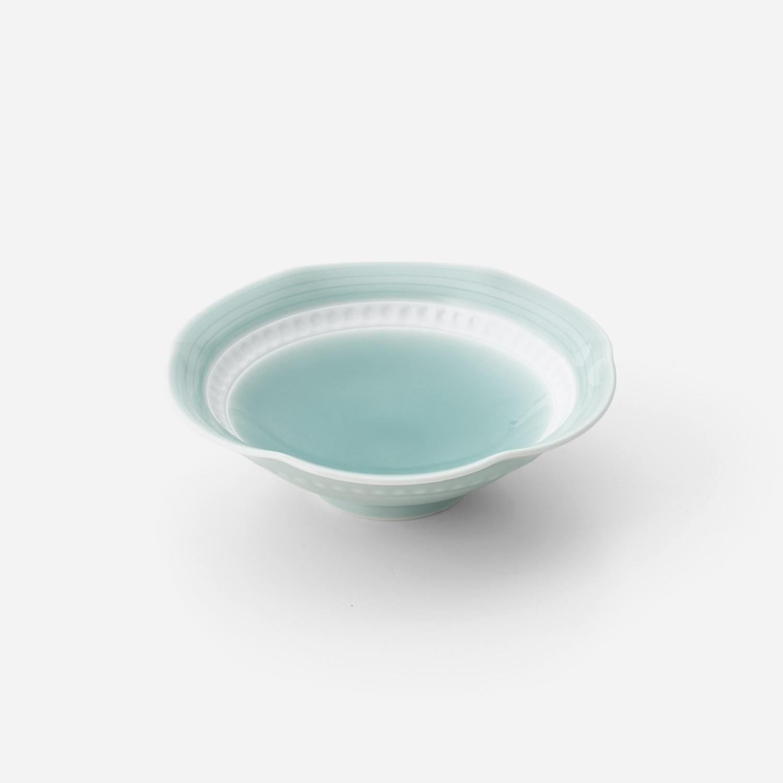 青磁印花 中鉢