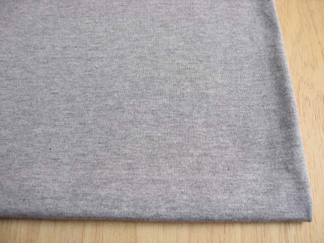 J&B定番 綿30双糸スーパー度詰天竺 杢グレー NTM-1573