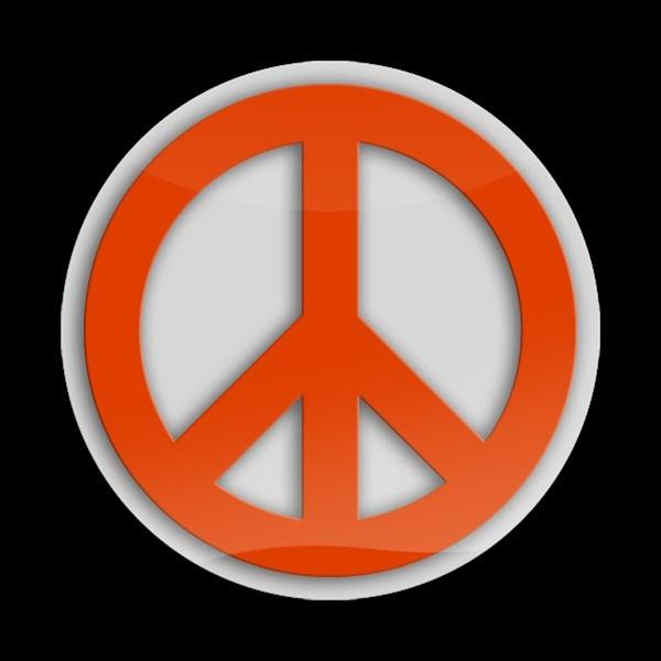 ゴーバッジ(3D)(LC0046 - 3D PEACE ORANGE) - 画像1