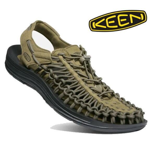 KEEN キーン メンズ サンダル ユニーク Dark Olive/Black 1023381
