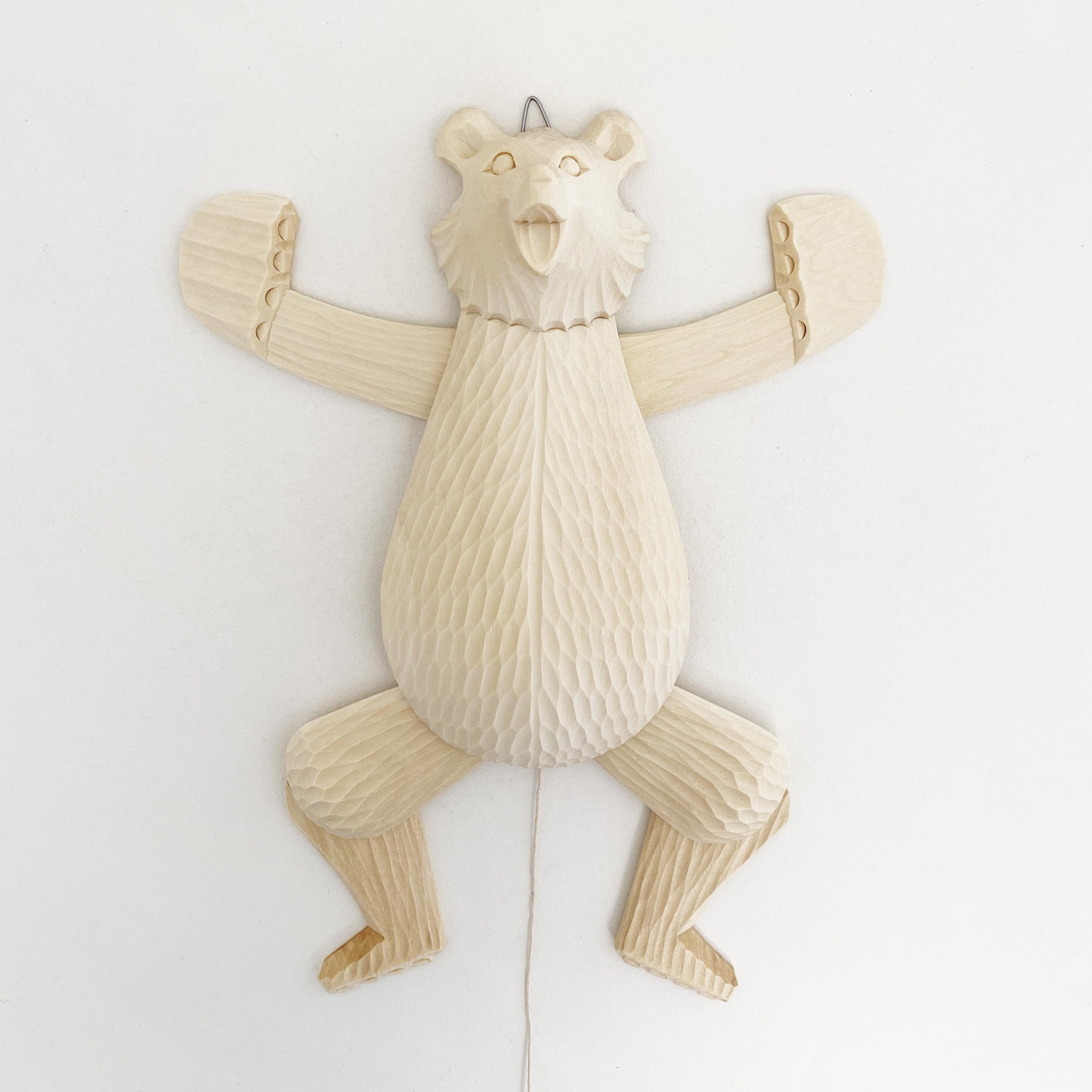 ボゴロツコエ木地玩具「体操クマ」