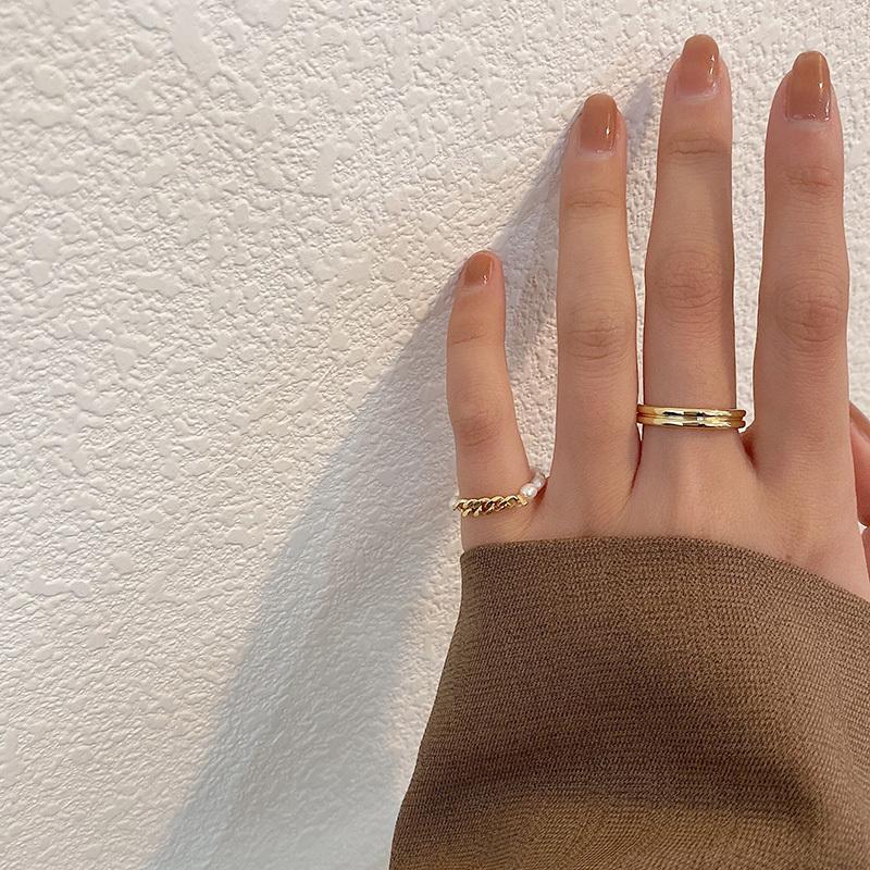 ゴールド&パールリングセット【gold & Perl ring set】